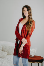 On the Fringe Cardigan | Burgundy