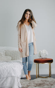 On the Fringe Cardigan | Taupe