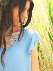 Favorite Things Flutter Top | Blue