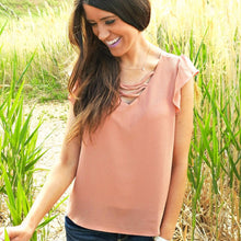 Favorite Things Flutter Top | Pink Clay