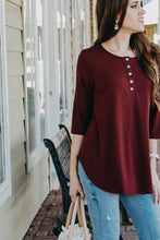 Lightweight Henley Tunic | Dark Burgundy