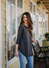 Lightweight Henley Tunic | Dark Gray