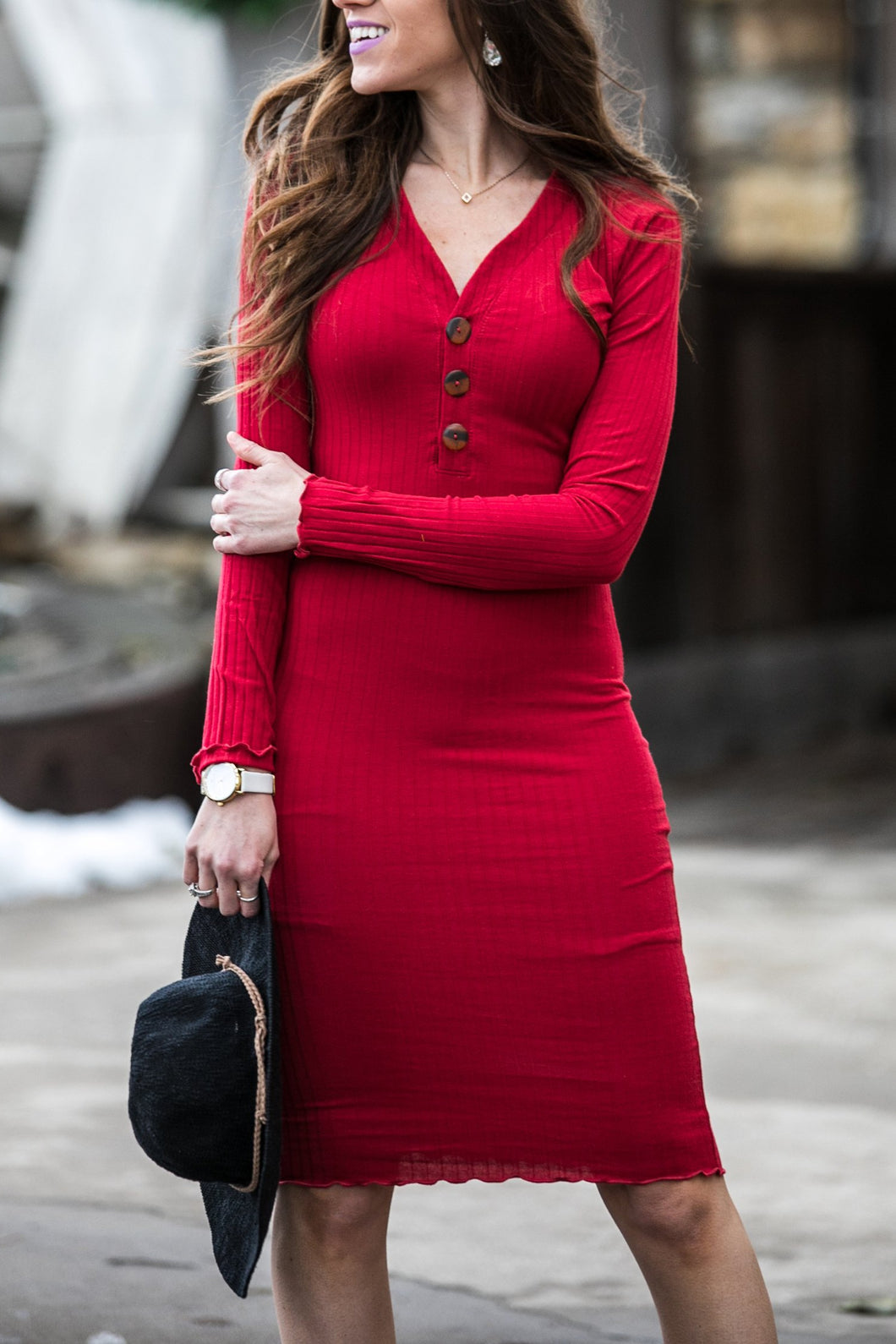 New Day Dress | Red