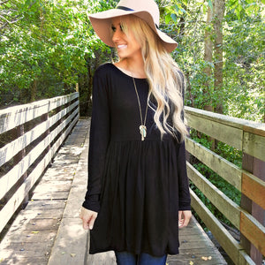 Savanah Peplum Tunic | 3 Colors