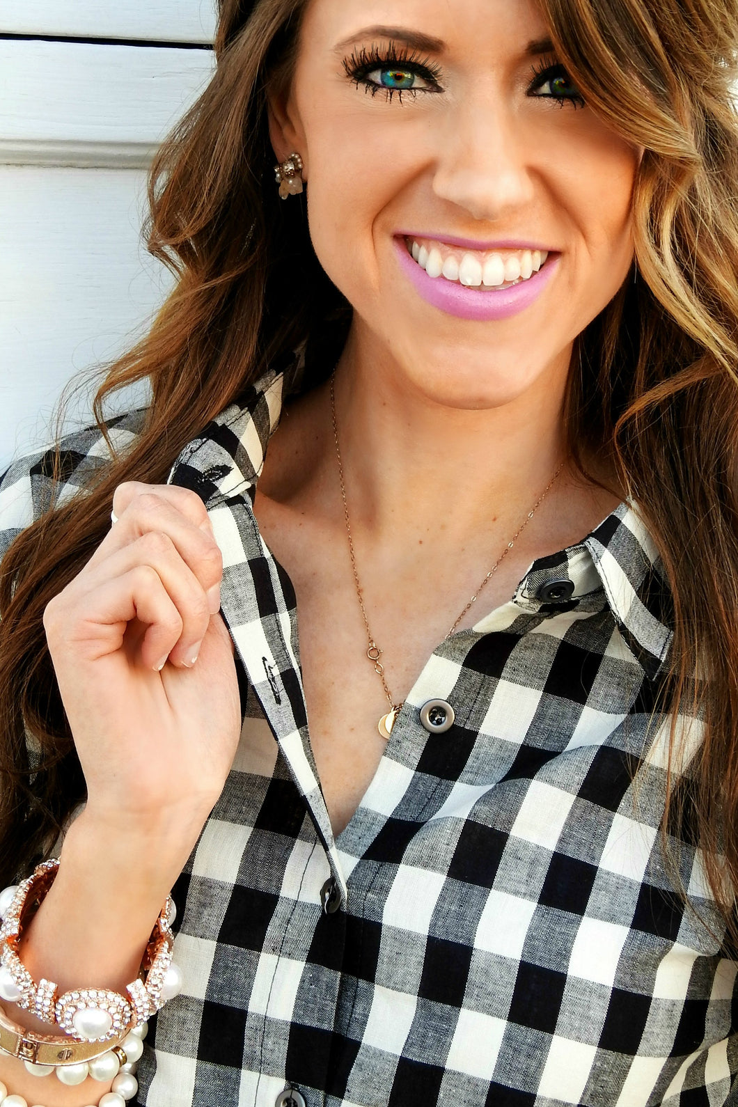Gingham Top | Button Up