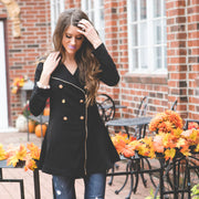 Button + Flair Peacoat | Mustard