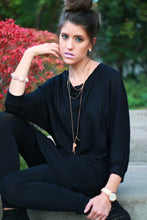 Boyfriend Ribbed Pullover | Black