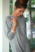 Boyfriend Ribbed Pullover | Gray