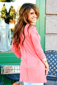 Button Back Pocket Tunic | 4 Colors!