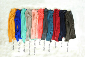 Button Sleeve Cardigans | Multiple Colors!
