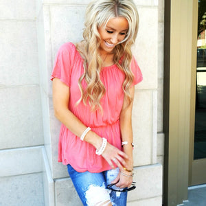 Cinched Waist Blouse | 5 Colors!