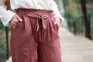 Dot Work Pant | Mauve