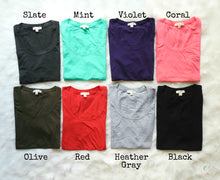 Fitted Quarter Sleeve Tee | 7 Colors
