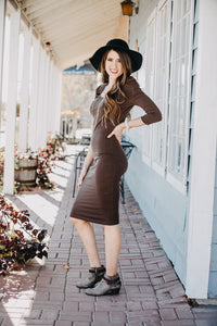 Flattering Layer Dress | Mocha