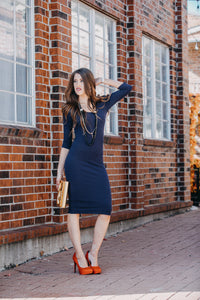 Flattering Layer Dress | Navy