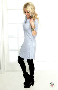 Lace Up Tunic Dress | 3 Colors