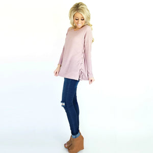 Lace Up Side Tunic | 2 Colors