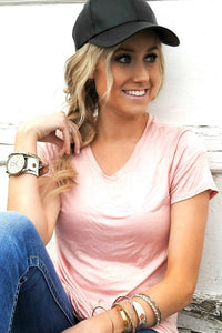 New Soft Stretch Tee | Blush