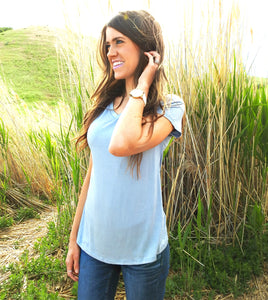 New Soft Stretch Tee | Blue