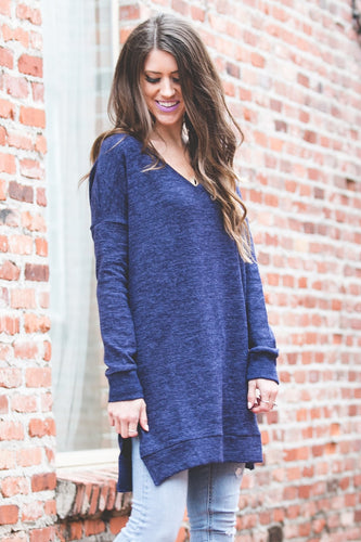 Perfect Pocket Sweater | Navy