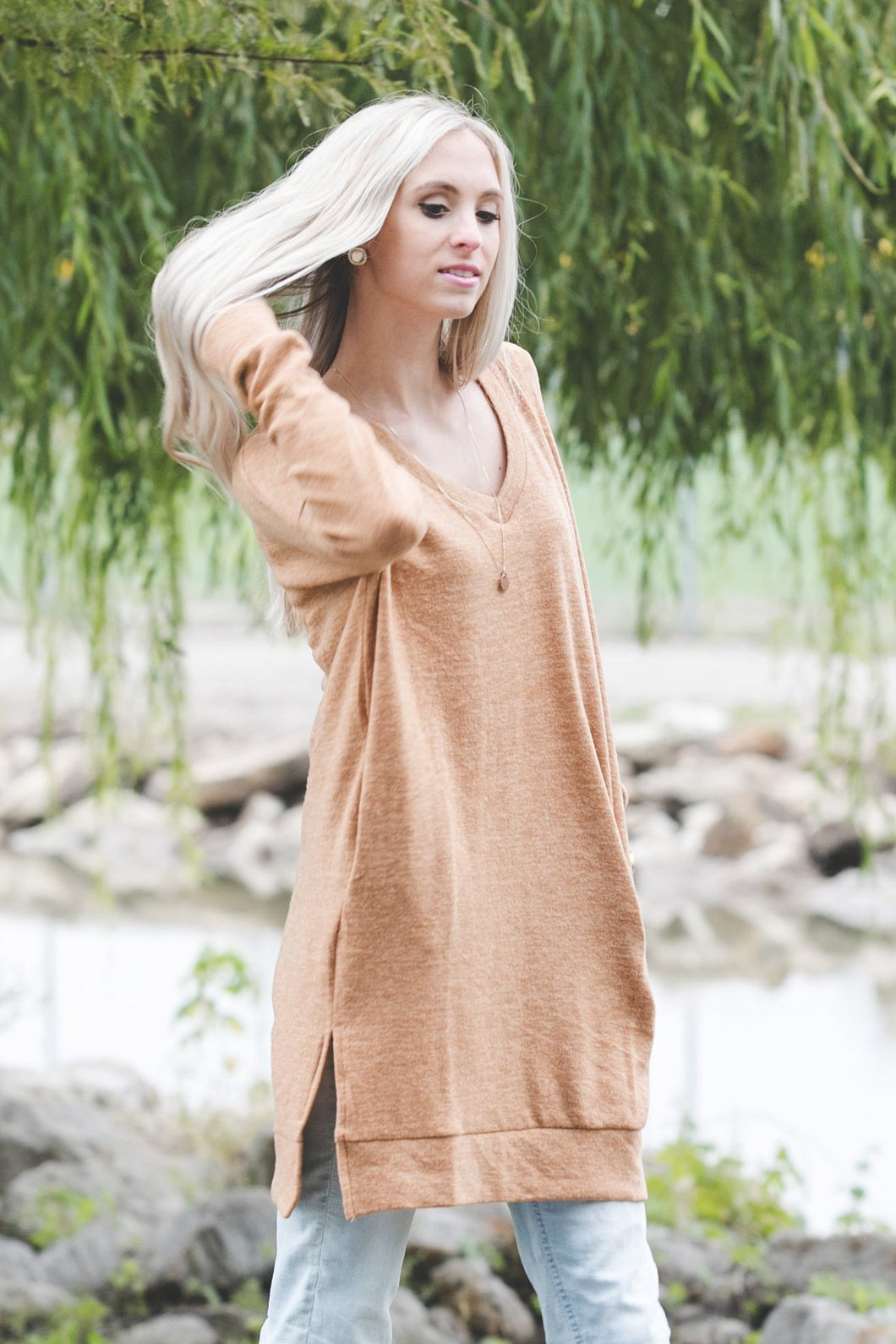 Perfect Pocket Sweater | Sepia
