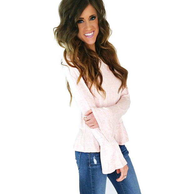 Belle Sleeve Ruffle Top | 4 Colors