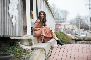 Ruffle Midi Dress | Egg Shell