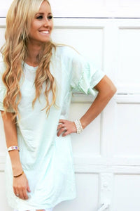 Ruffle Striped Tunic Dress | 2 Colors