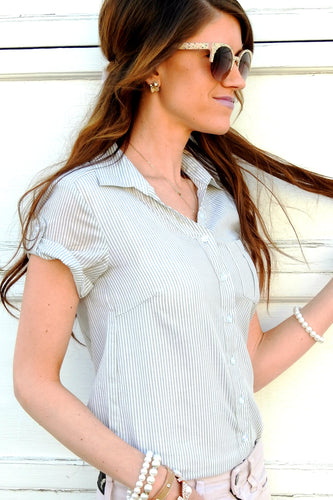 Striped Button Up | 2 Colors