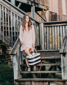 Cozy Ruffle Dress | Rose Pink