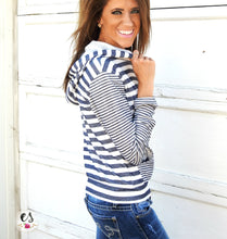 Striped Zip Up Jacket | 2 Colors