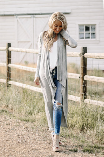 Maxi Cardigan | Heather Gray