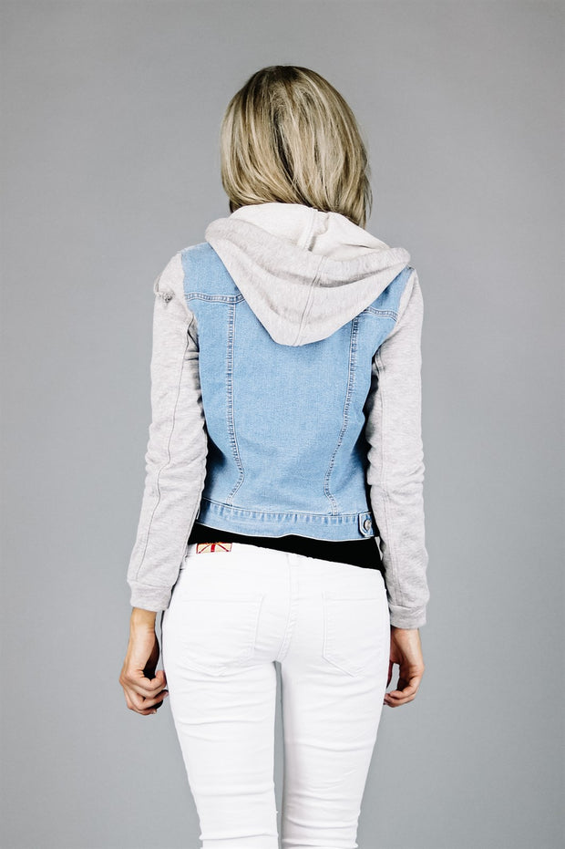 Chloe Denim Sweatshirt Jacket