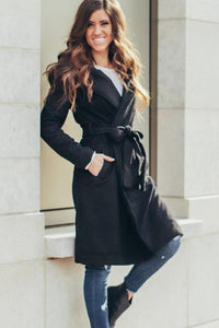 London Hooded Peacoat | Black