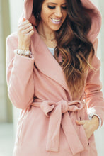 London Hooded Peacoat | Pink Slipper