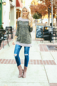Heathered Stripe Tunic | 3 Colors