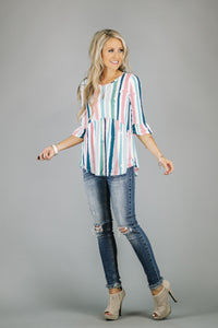 Paint Your Stripes Tunic | 2 Colors