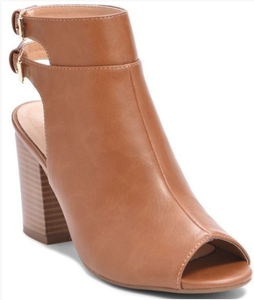 Peep Toe Double Buckle Boot | 2 Colors