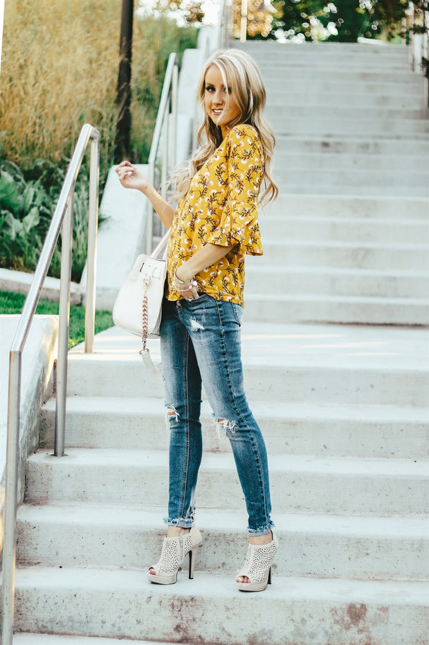 Petal Ruffle Blouse | 4 Colors