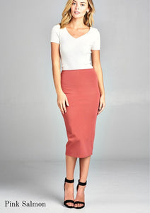 Ashley Midi Pencil Skirt | Many colors