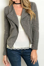 Quilted Zip Blazer