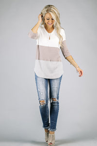 Colorblock Knit Tunic