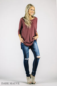 Waffle Tunic 3/4 Sleeves | 15 Colors