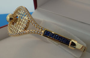 29 TENNIS RACKET BRACELET WITH DIAMONDS AND SAPPHIRES #40