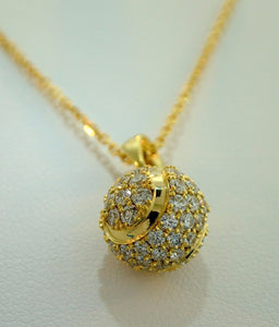 49A Tennis Ball Diamond Pendant - #95A