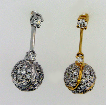 Diamond Tennis Earrings