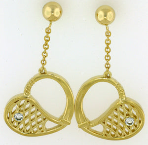 14 Tennis Racket Ear Rings - #178
