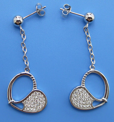 05A Tennis Racket Earrings - #185C