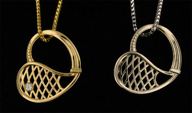 21D Pendant Tennis Racket Heart - #179
