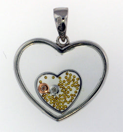 15B Pendant - Heart In Heart - #128